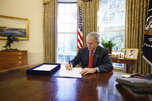 President Bush Signs Emergency