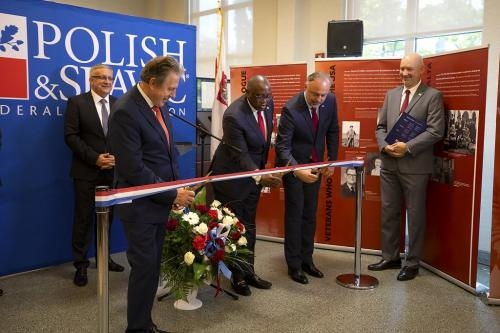 The Honorable Rodney E. Hood [3] - Polish and Slavic Federal Credit Union Ribbon Cutting Event